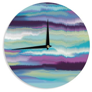 KESS InHouse Nina May 'Artika Blue' Teal Purple Wall Clock