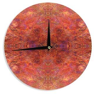 KESS InHouse Nikposium 'Sedona' Orange red Wall Clock