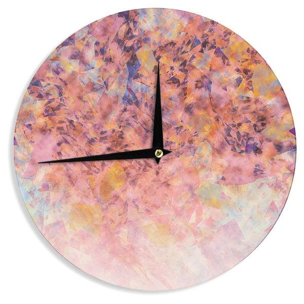 KESS InHouse Nikki Strange 'Blushed Geometric' Wall Clock