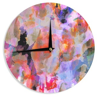 KESS InHouse Nikki Strange 'Painterly Blush' Wall Clock