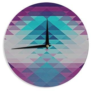 KESS InHouse Nika Martinez 'Hipster Girl' Blue Lavender Wall Clock