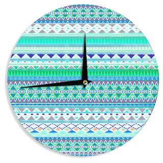 KESS InHouse Nika Martinez 'Emerald Chenoa' Wall Clock