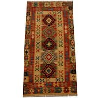 Herat Oriental Afghan Hand-woven Vegetable Dye Wool Kilim (3'5 x 6'6)