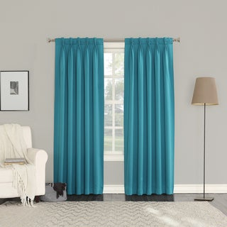 Sun Zero Galia Polyester Pinch Pleat Curtain Panel Pair