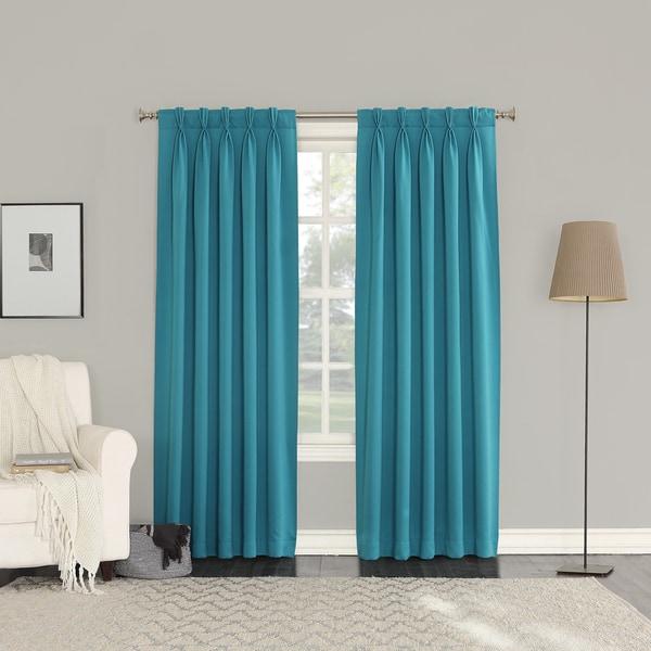 sun zero galia pinch pleat curtain panel pair - free shipping on