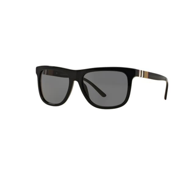 eb9028ba8557 Burberry Men  x27 s BE4201 300181 Black Plastic Square Sunglasses w  ...