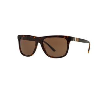 Burberry Men's BE4201 300273 Dark Havana Plastic Square Sunglasses w/ 58mm Lens