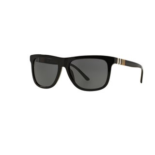 Burberry Men's BE4201 300187 Black Plastic Square Sunglasses w/ 58mm Lens