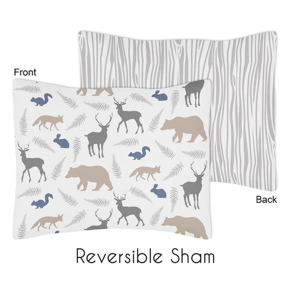Standard Pillow Sham for Woodland Animals Collection by Sweet Jojo Designs