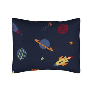 Space Galaxy Collection Standard Pillow Sham by Sweet Jojo Designs