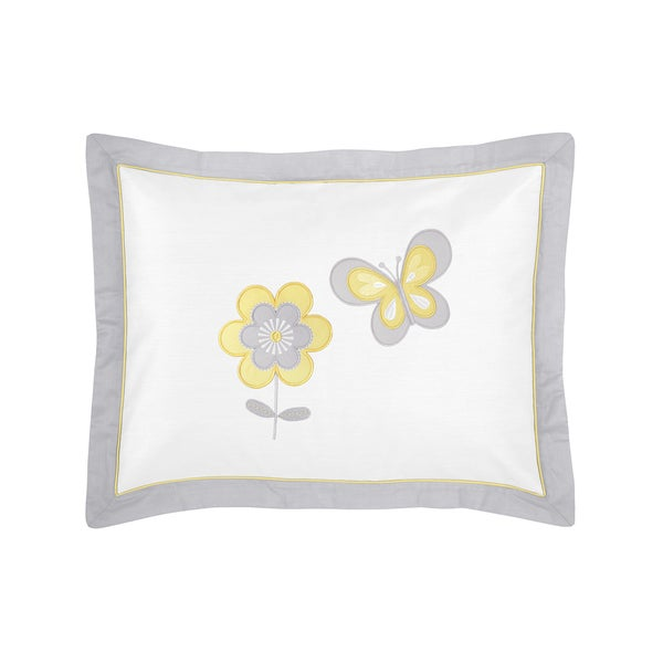 Mod Garden Collection Standard Pillow Sham by Sweet Jojo Designs