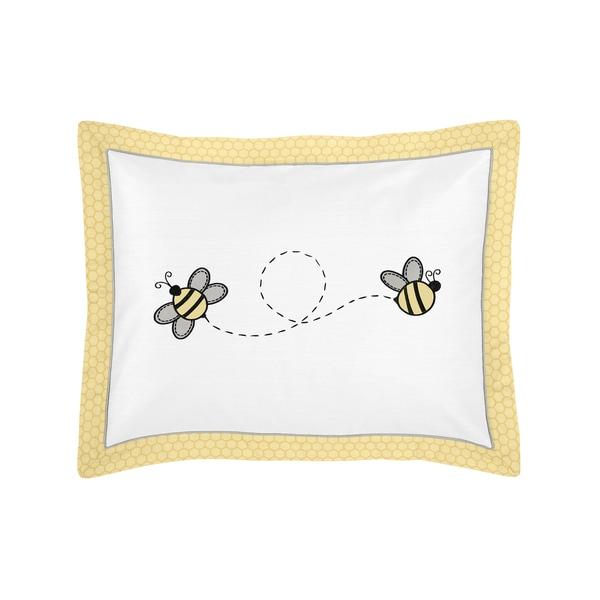 Honey Bee Collection Standard Pillow Sham by Sweet Jojo Designs