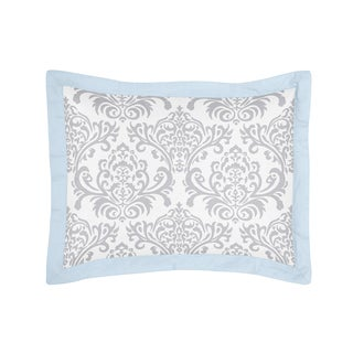 Blue and Gray Avery Collection Standard Pillow Sham by Sweet Jojo Designs