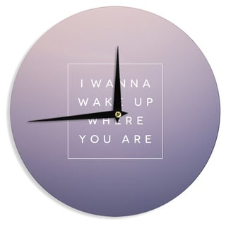 "Kess InHouse Galaxy Eyes ""Wake Up"" Wall Clock 12"""