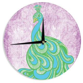 KESS InHouseGeordanna Cordero-Fields 'Beauty in Waiting' Green Pink Wall Clock