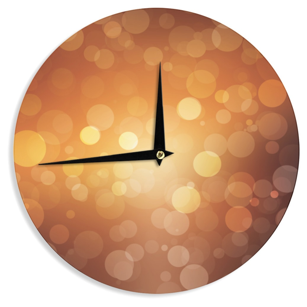KESS InHouse KESS Original Sunrise Orange Bokeh Wall Clock (Sunrise)