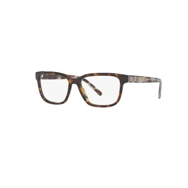 677d64999f18 Burberry BE2230 3002 Dark Havana Plastic Square Eyeglasses w  55mm Lens