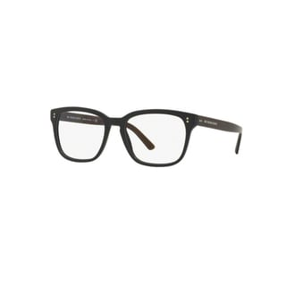Burberry Mens BE2225 3590 Matte Black Plastic Square Eyeglasses with 55mm Lens