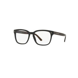 Burberry BE2225 3590 Matte Black Plastic Square Eyeglasses w/ 55mm Lens