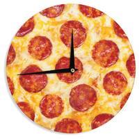 KESS InHouse KESS Original 'Pizza My Heart' Pepperoni Cheese Wall Clock