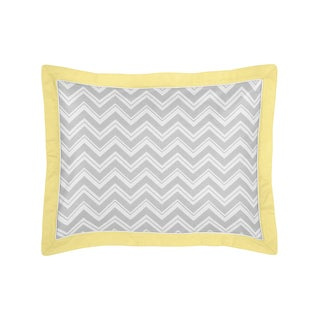 Gray and Yellow Zig Zag Collection Standard Pillow Sham by Sweet Jojo Designs