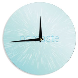 KESS InHouse KESS Original 'Namaste' Blue Wall Clock