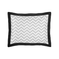 Gray and Black Zig Zag Collection Standard Pillow Sham by Sweet Jojo Designs
