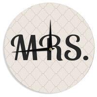 KESS InHouse KESS Original 'MRS' Wall Clock