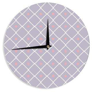 KESS InHouse KESS Original 'Lilac Web' Lavendar Pink Wall Clock