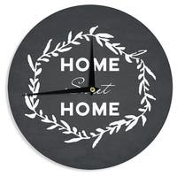 KESS InHouse KESS Original 'Home Sweet Home' Black White Wall Clock