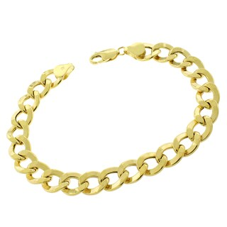 10k Yellow Gold 9.5mm Cuban Curb Link 8.5-inch Chain Bracelet