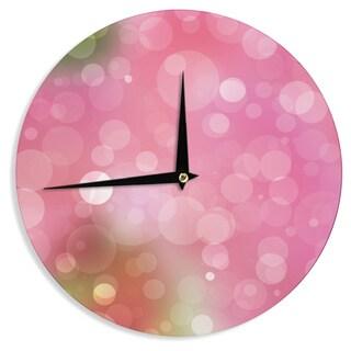 KESS InHouse KESS Original 'Gypsy' Pink Bokeh Wall Clock