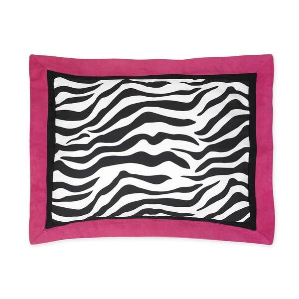 Pink Funky Zebra Collection Standard Pillow Sham by Sweet Jojo Designs