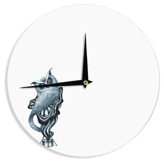 KESS InHouseGraham Curran 'Owl' Wall Clock