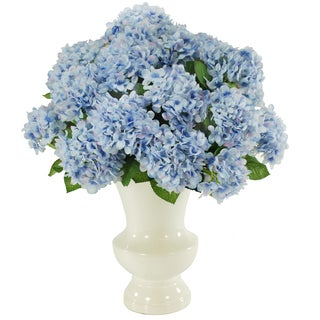 Jane Seymour Botanicals 24-inch Tall Blue Hydrangea Bouquet In Cream Ceramic Vase
