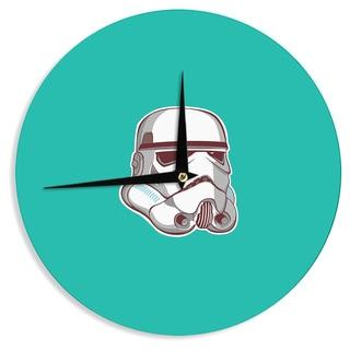 KESS InHouse Juan Paolo 'Stormtrooper 2' Teal Digital Wall Clock