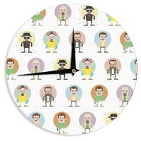 KESS InHouse Juan Paolo 'The Stages of Walter White' Breaking Bad Wall Clock