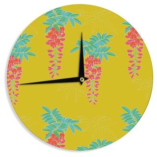 KESS InHouseGukuuki 'Ipanema' Yellow Wall Clock