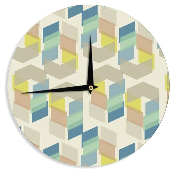 KESS InHouseGukuuki 'Kobob Chevron' Geometric Brown Wall Clock