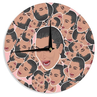 KESS InHouse Juan Paolo 'First World Problems' Celebrity Funny Wall Clock