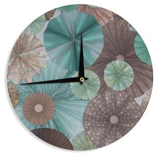 KESS InHouseHeidi Jennings 'Atlantis' Teal Brown Wall Clock