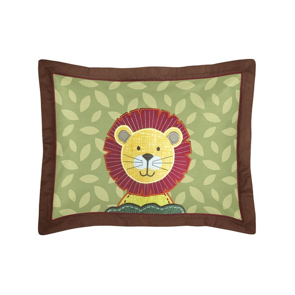 Jungle Time Collection Standard Pillow Sham by Sweet Jojo Designs