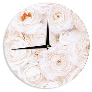 KESS InHouseHeidi Jennings 'Blessed' Rose Wall Clock
