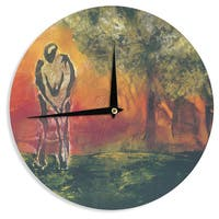 KESS InHouse Josh Serafin 'Par' Golf Wall Clock