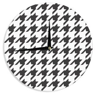 KESS InHouse Empire Ruhl 'Spacey Houndstooth' Wall Clock
