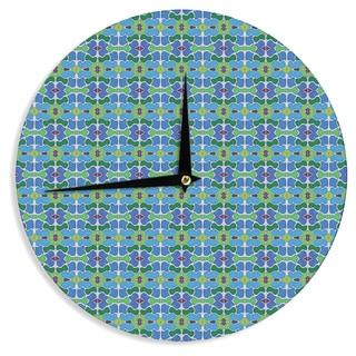 KESS InHouse Empire Ruhl 'Sea Glass' Wall Clock