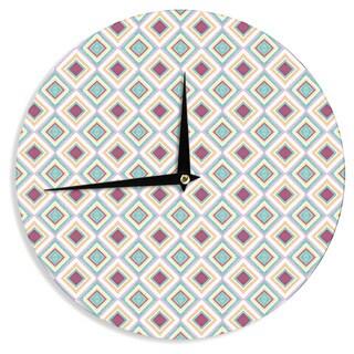 KESS InHouse Empire Ruhl 'Hip Diamonds' Diamond Pattern Wall Clock