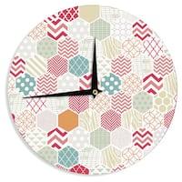 KESS InHouseHeidi Jennings 'Geo Pastel' Geometric Wall Clock