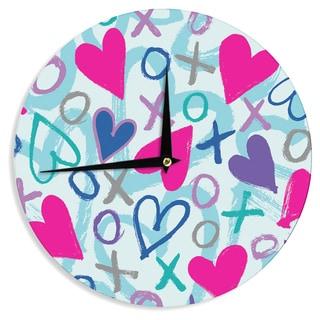 KESS InHouse Emine Ortega 'Hearts a Flutter' Wall Clock