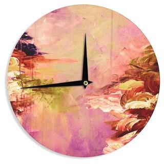 KESS InHouse Ebi Emporium 'Winter Dreamland 3' Pink Orange Wall Clock
